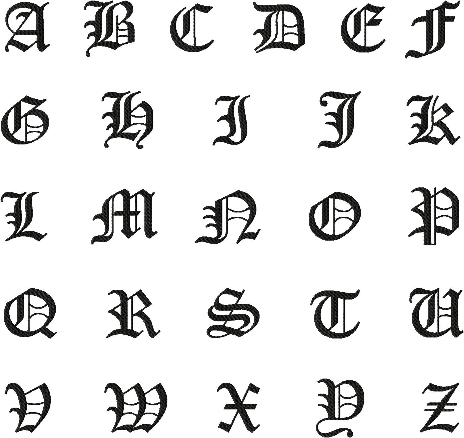 Old english fonts alpha pinterest