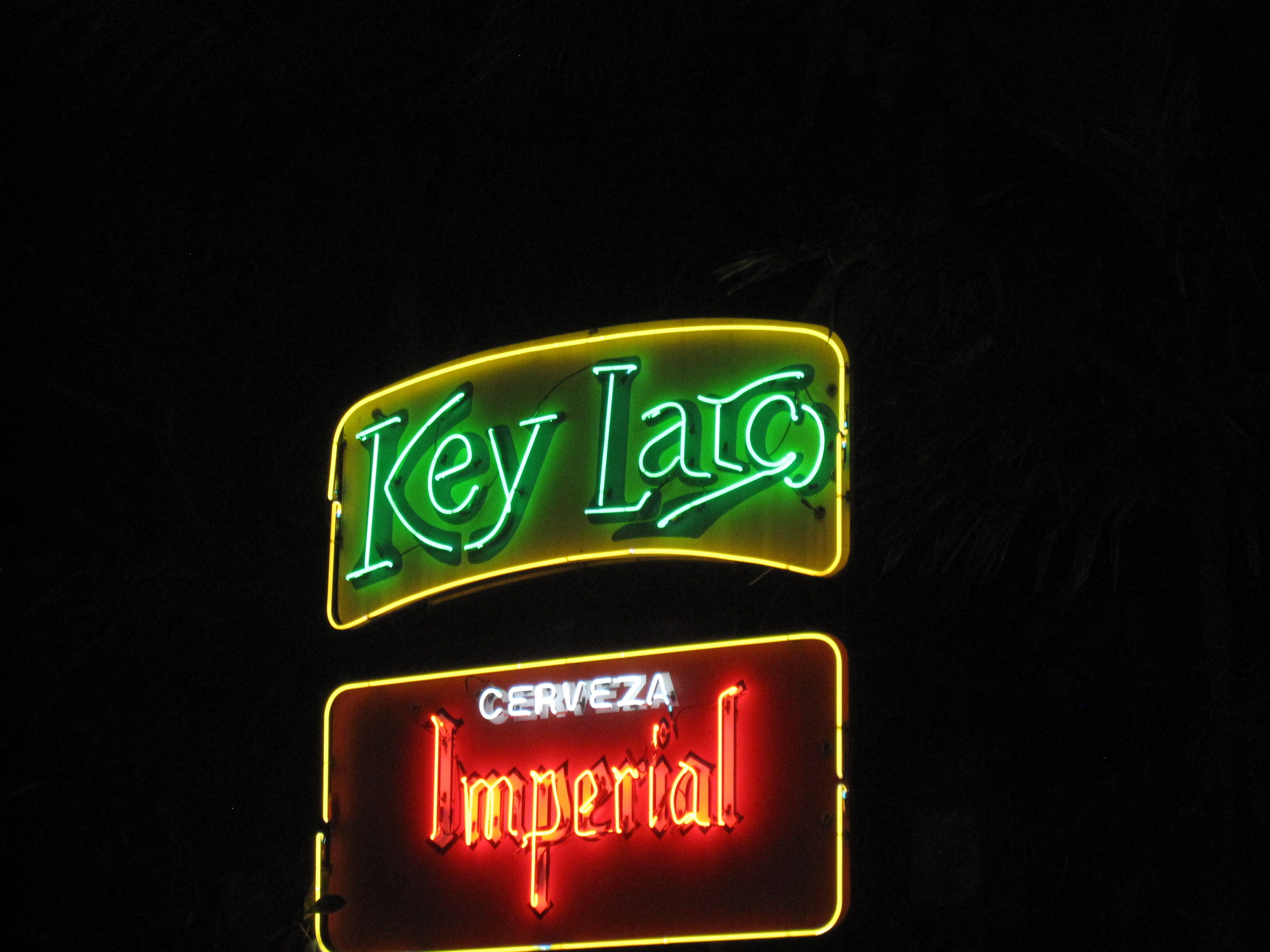 Key Largo In San Jose Hot Dance Club Across The Street From Del Rey Neon Words Neon Signs Neon