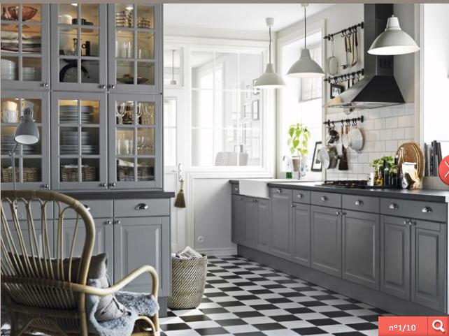cuisine rétro grise | Cuisine | Pinterest | Cuisine, Kitchenette and ...