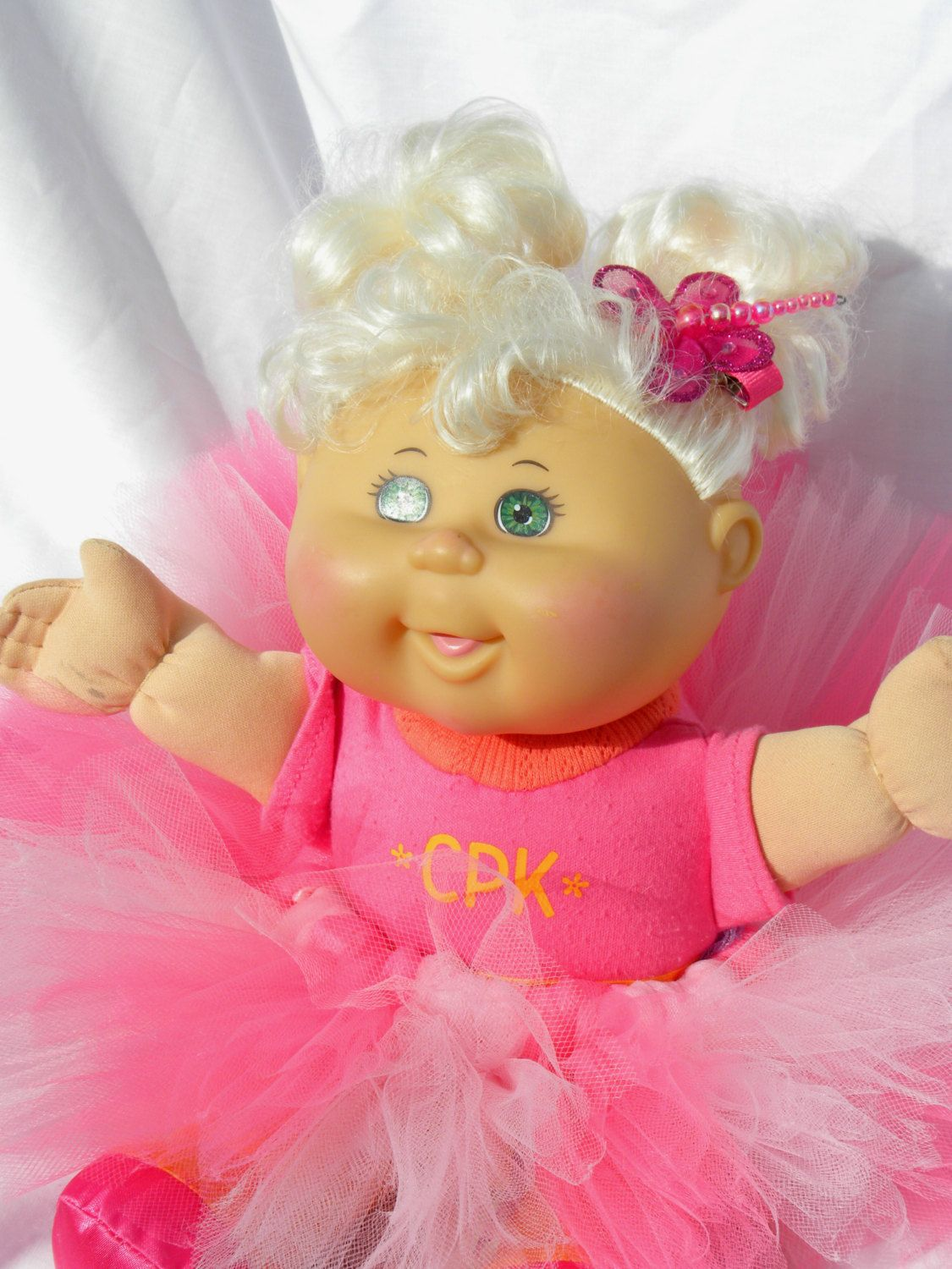 Bubblegum baby pink cabbage patch doll tutu perfect valentines perfect valentines day or easter present at 2 yo my little girl is really getting into her baby dolls negle Images