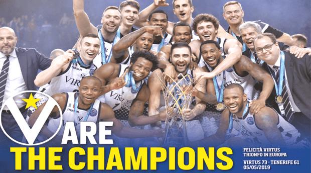 La Virtus vince la Champions League Corriere dello Sport
