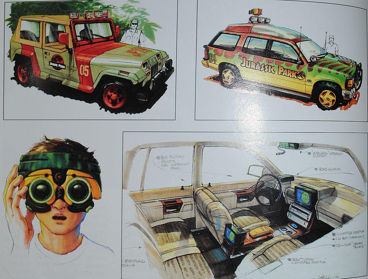 Jurassic park card 3 by chicagocubsfan24 on deviantart - Jurassiraptor Jurassic Park Vehicle Concept Art By John Bell