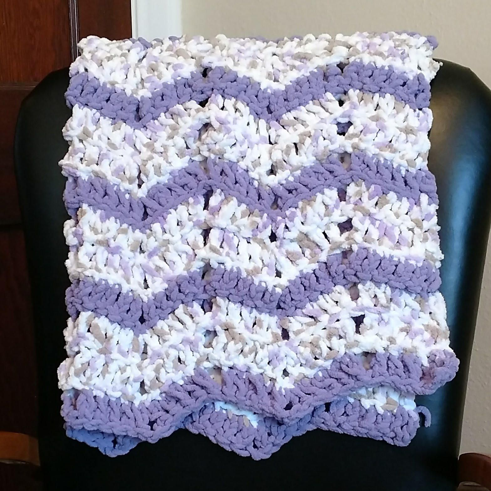 Super Soft Handmade Lace Ripple Afghan by VintageVixenPress on Etsy ...