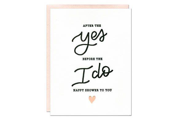 Happy Bridal Shower Card / Wedding Shower Card / Bride To
