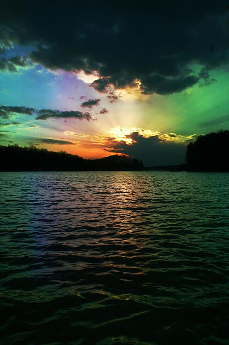 Rainbow Sunset By Adam Lecroy With Images Rainbow Sunset
