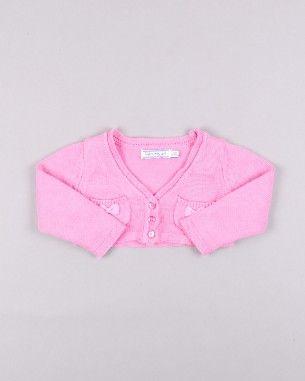 Chaqueta de punto con 2 lazos de Sfera http://www.quiquilo.es/catalogo-ropa-segunda-mano/chaqueta-punto-con-2-lazos-en-bolsillos-en-color-rosa-marca-sfera.html