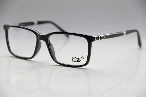 1633c40af2788 Armação P  Óculos De Grau Maculino Mont Blanc Frete Grátis   Óculos ...
