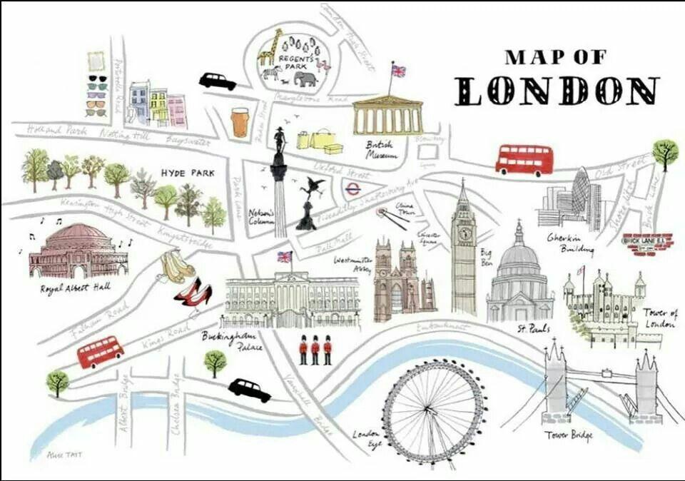 Map Of London Viajes A Londres Londres Mapa Londres