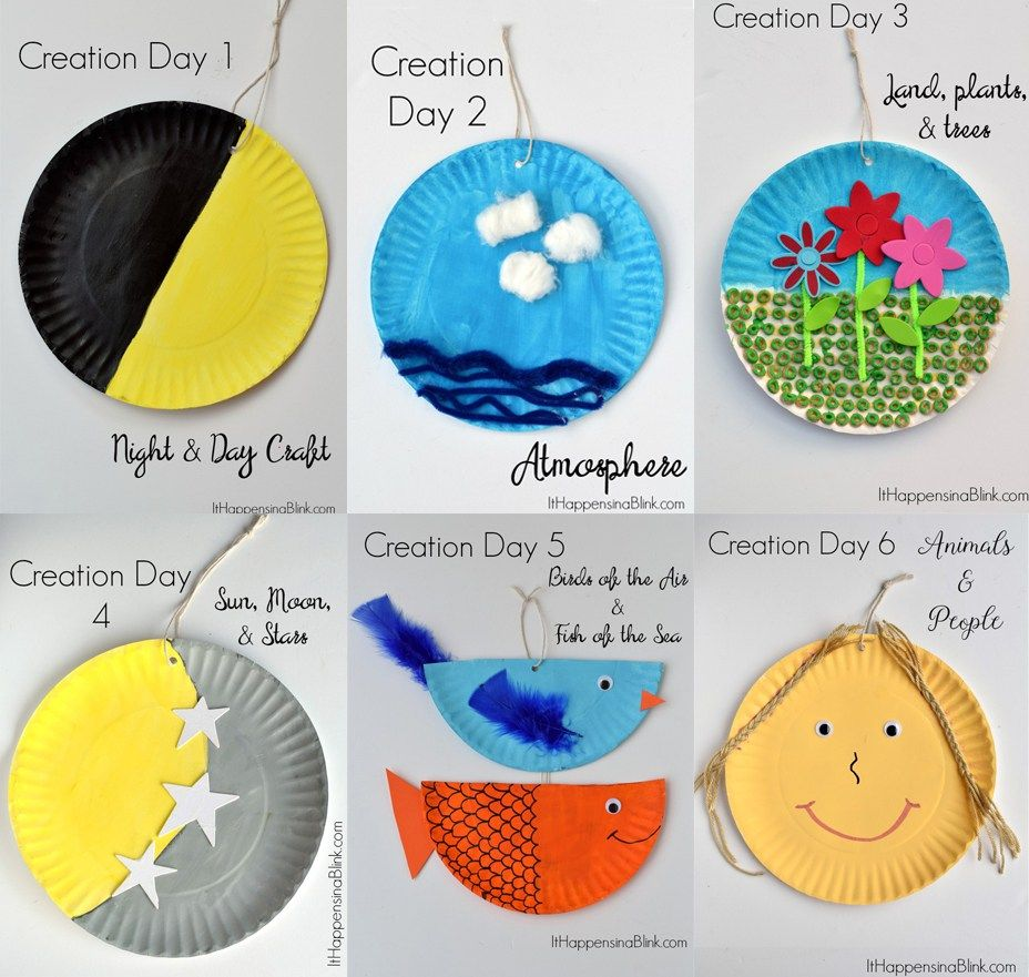Sunday school crafts for preschool - Teaching The 7 Days Of Creation Sunday School Crafts