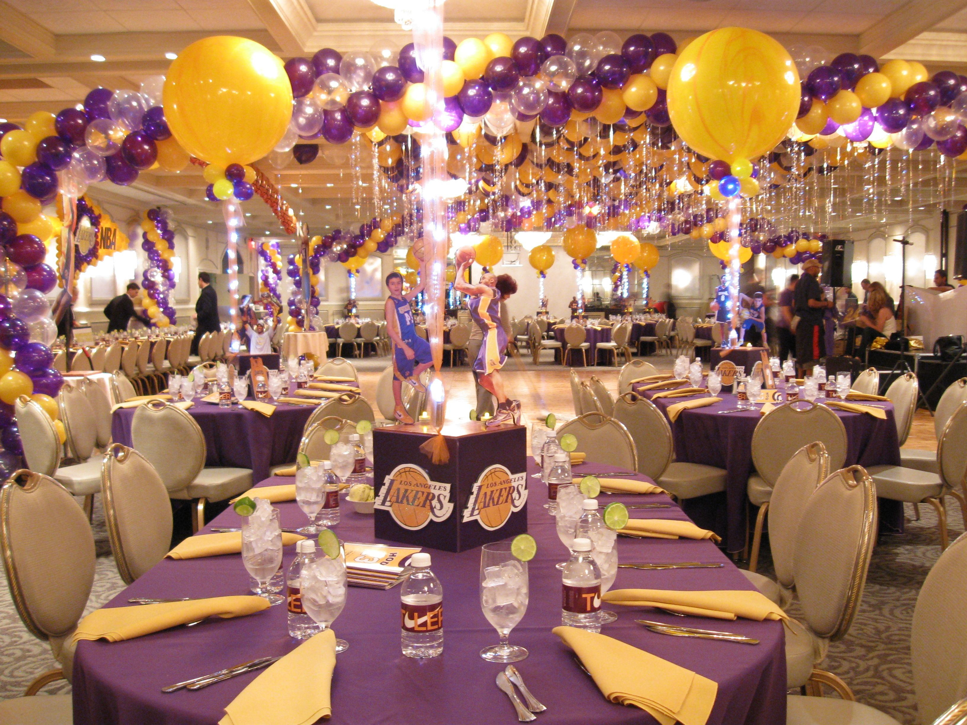 Lakers Themed Party Basketball theme birthday