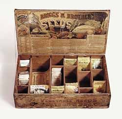 purchased one of these for our front porch now to find some old seed boxes packets to place in. Black Bedroom Furniture Sets. Home Design Ideas