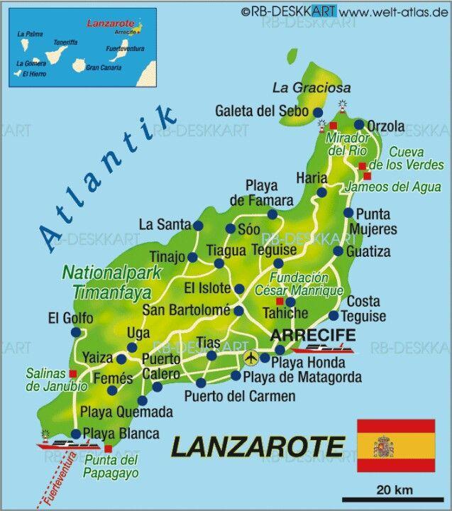 Spanien Lanzarote Karta.Lanzarote Spain World Spain Canary Islands In 2019 Lanzarote
