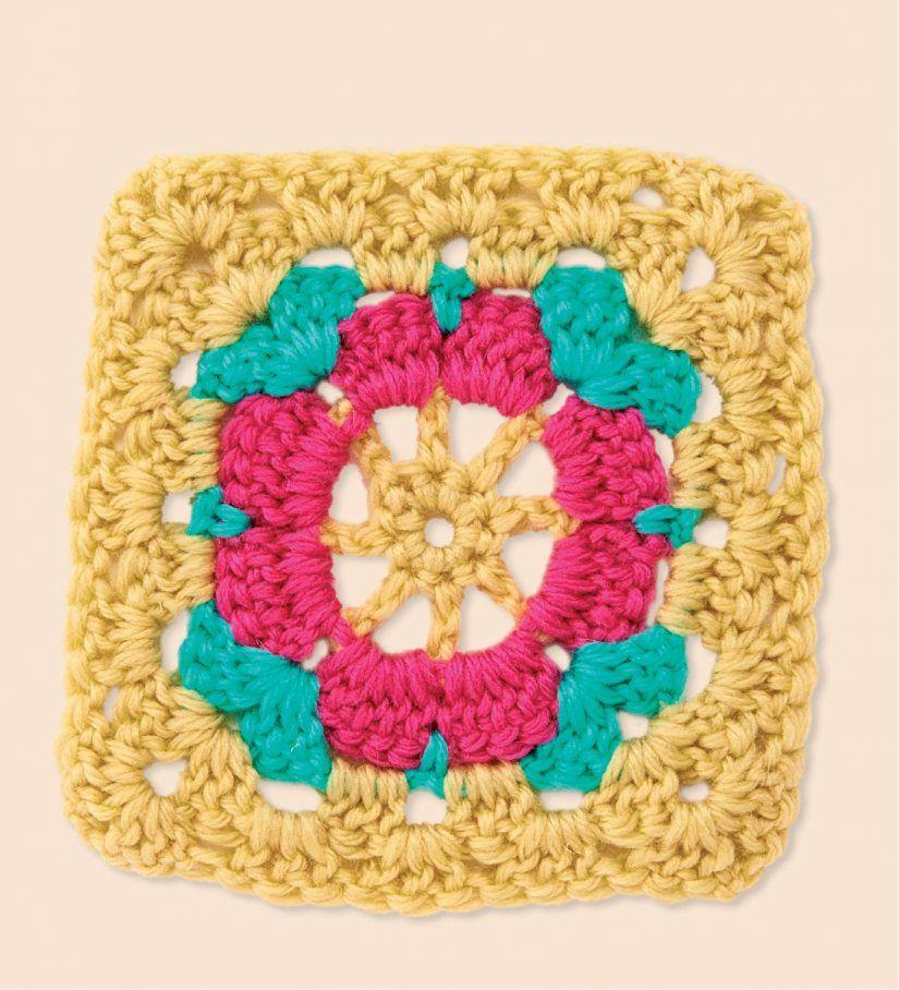 Pink flower granny square... Free pattern!! | granny squares ...