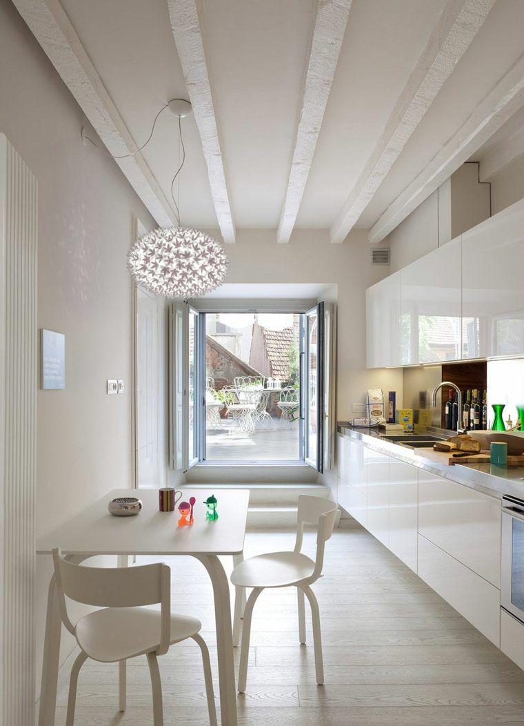 aménagement studio et idée de cuisine blanche