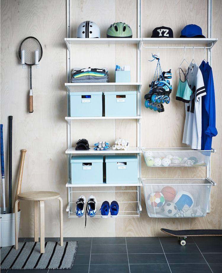 Flur Aufbewahrung Kreativ Platzsparend In 2020 Ikea Lagerung Ikea Algot Und Aufbewahrung Kinderzimmer