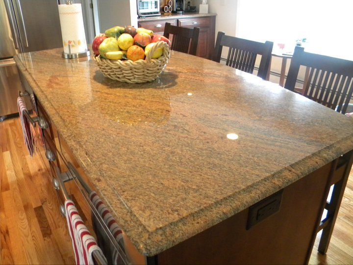 Vyara-Exotica-Granite-Ogee-Edge color Kitchen Pinterest Colors