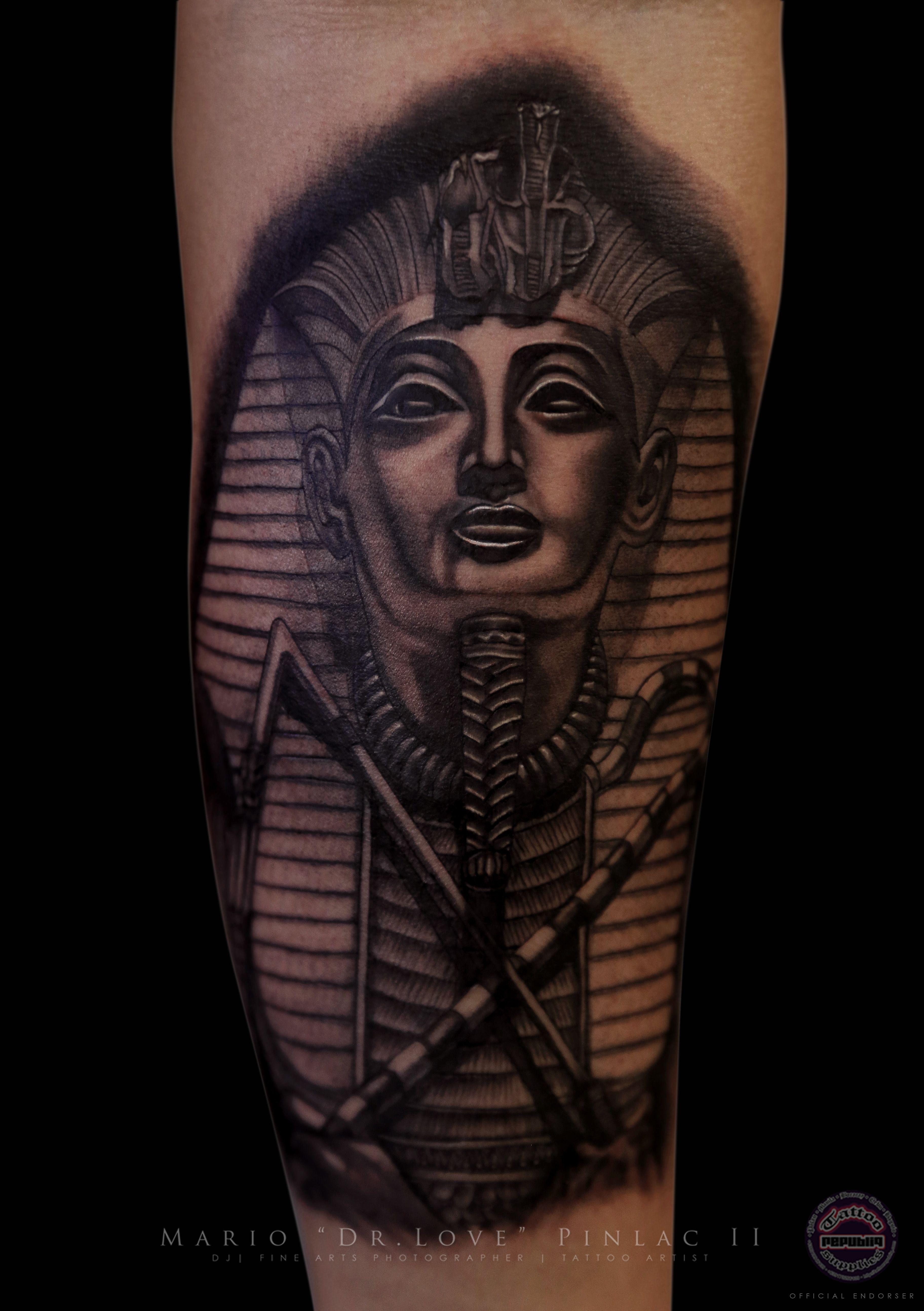 realistic black amp grey pharaoh tattoo the doctors