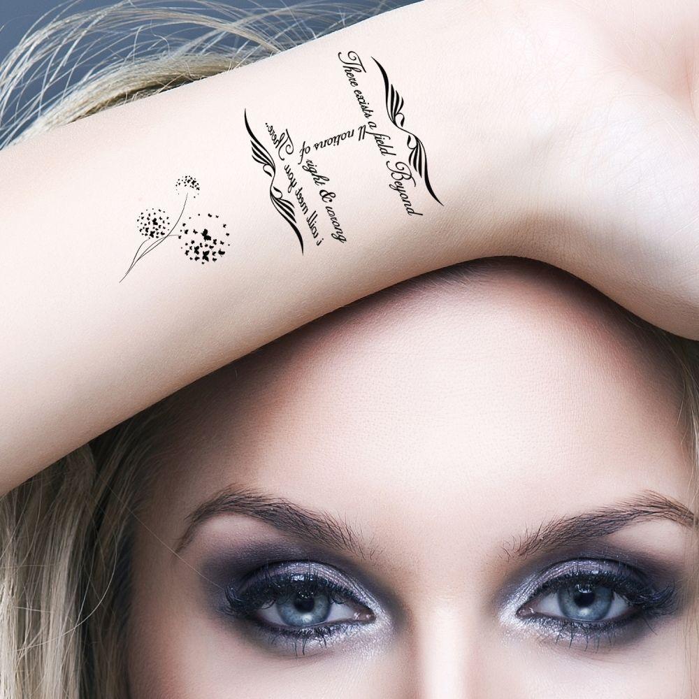 Black Henna Tattoo Uk: Temporary Tattoos Black Infinity Tribal Set Of 5 Tattoos