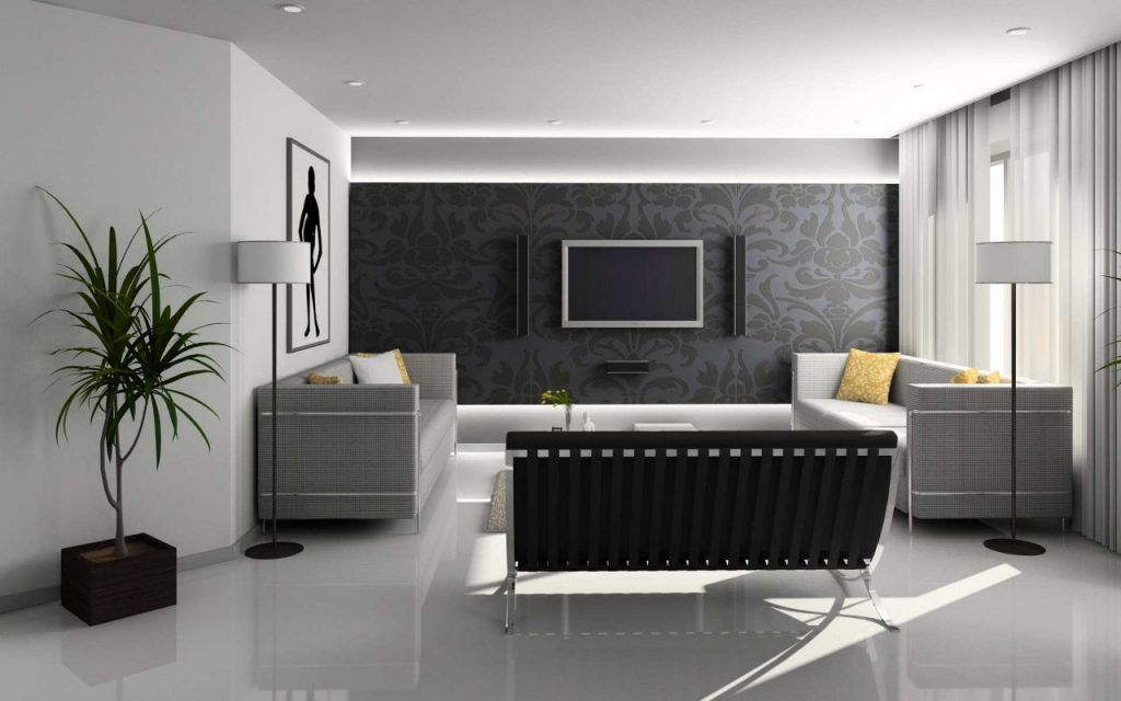 Living Wallpaper Designs India Diseno Interior Home Interior Design Living Design Fancy Interior Design