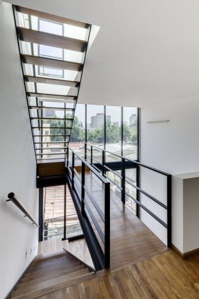 modern apartment building by JSª Arquitectura. The building is called Tabasco 127and is located in Mexico City