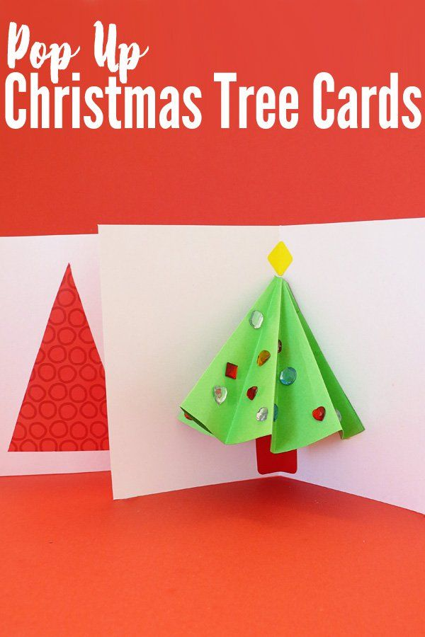 Pop Up Christmas Tree Card That Kids Can Make Christmas Tree Cards Pop Up Christmas Cards Homemade Christmas Cards