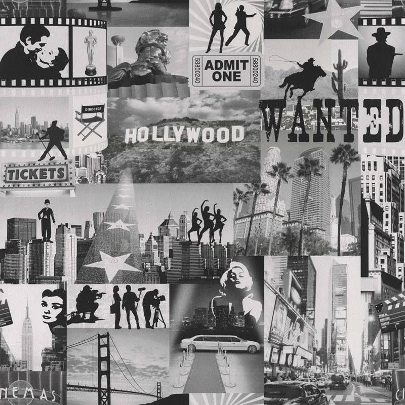 Retro Iconic Hollywood Movie Stars Wallpaper Bedroom New