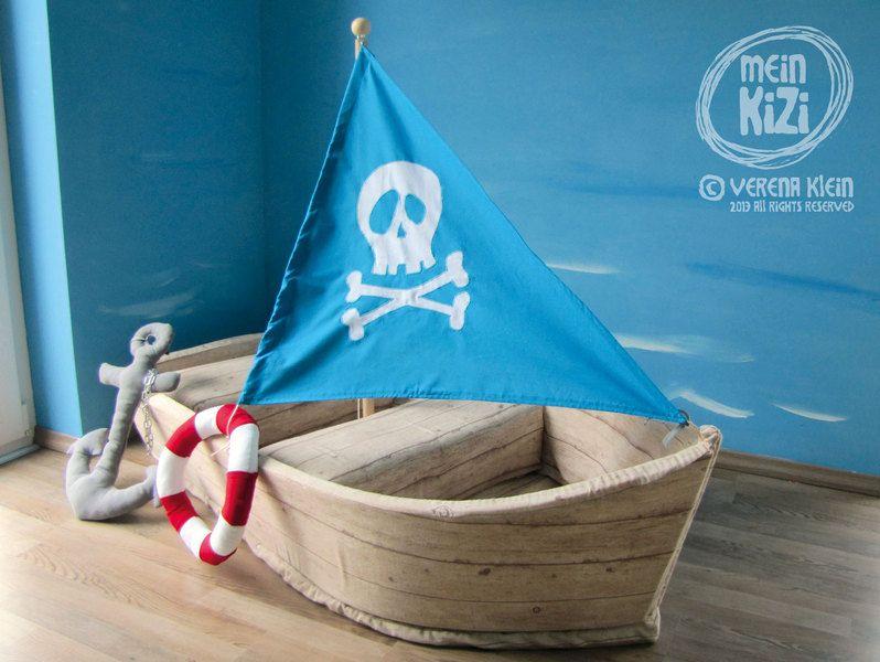 Maritimes Kinderzimmer ~ Spielboot schiff für kleine piraten pirat schiffe und dawanda