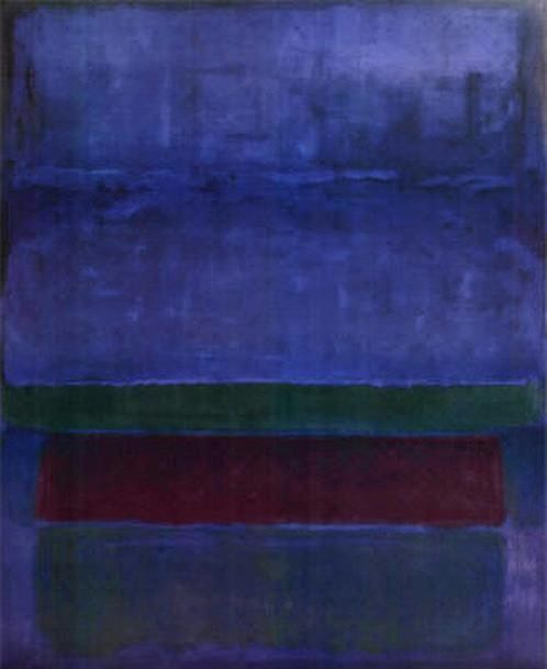 Azul Verde y marrón Mark Rothko Pintura