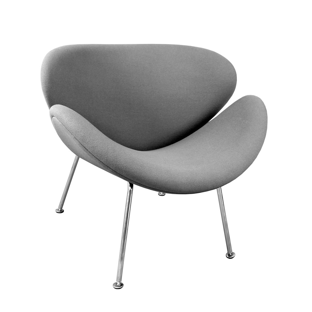 Dove Grey Smile Chair Inspired By Eames Perfect For The Living Room