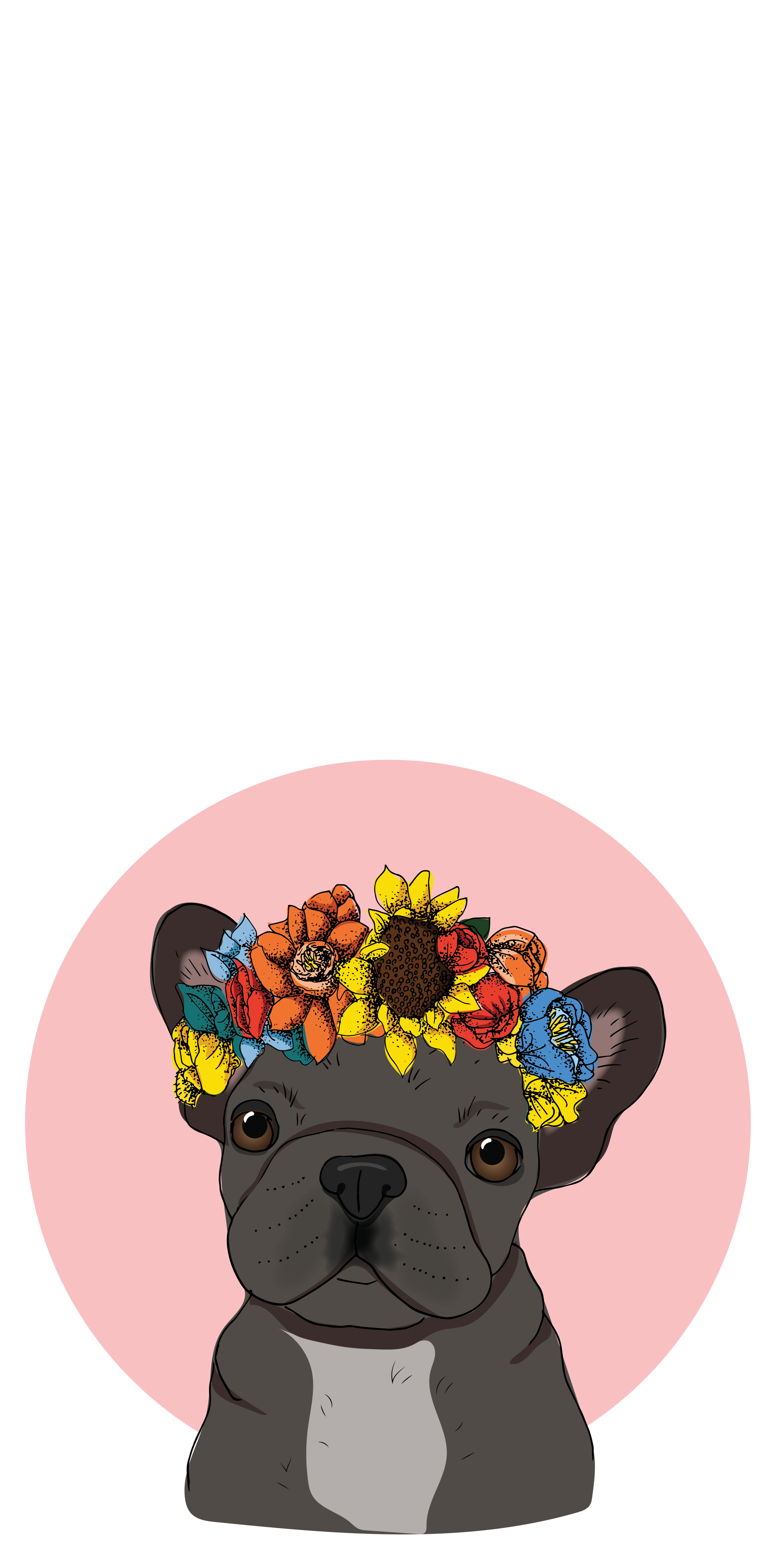 French Bulldog With Floral Crown Casetify Iphone Art