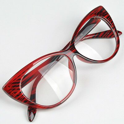Details about Women Cat Eyes Glasses Frame Ful Rim Sexi Eyewear Fashion Eyeglass Accessories