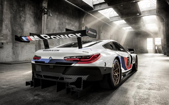 Populaire Télécharger fonds d'écran BMW M8 GTE voiture de Course, en 2018  XY04