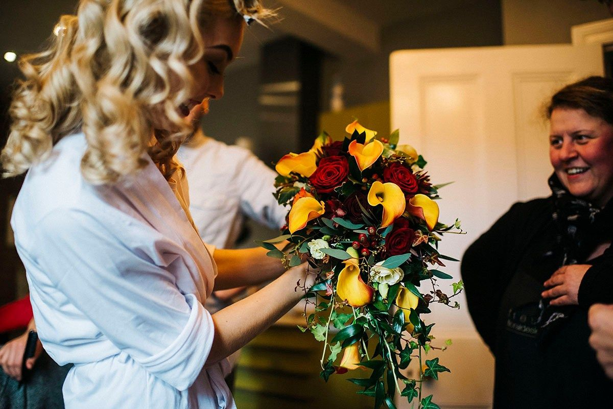 1940's style wedding bouquets  A Sassi Holford Gown for a us and us Inspired Wedding