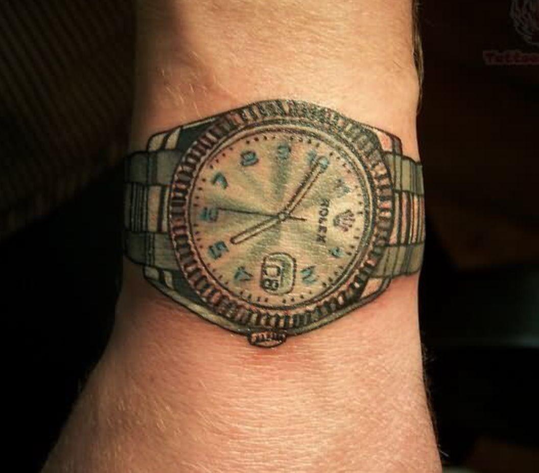 Rolex Wrist Tattoo Watch Tattoos Watch Tattoo Design Tattoos