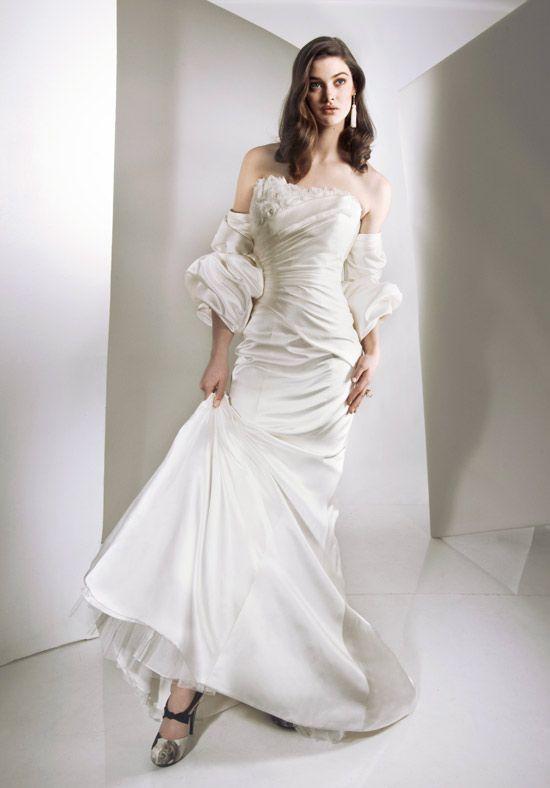 Wrinkled Taffeta Gown