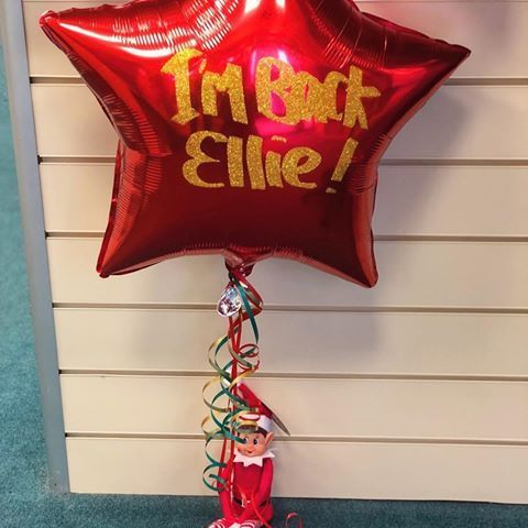 TOMORROW THE ELF ON THE SHELF RETURNS TO HOMES ACROSS THE WORLD! Santa post won't get your elf delivered on time but don't worry we have them available still in our shop! ✨✨ Elf & personalised balloon £8.99!Can be personalised with any message ✨#balloonsbywonderland #upminsterballoons #brentwoodballoons #romfordballoons #hornchurchballoons #essexballoons #elfontheshelf #elfballoons #elf #december #christmasiscoming #personalisedballoons #personalised #christmasidea #personalisedgifts #personalisedballoons
