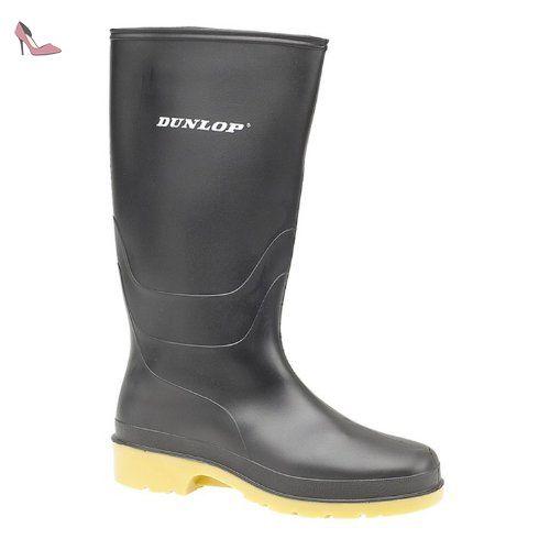 Dunlop 16258 Noir - Chaussures Bottes de pluie Femme