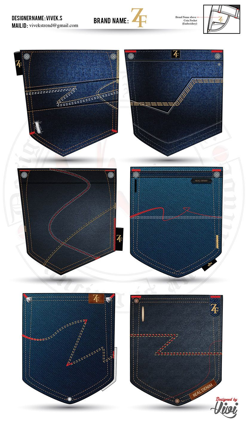 f489ca47e56 Denim Pocket Designs especially for Mens Jeans Pocket and also it is  specially mind to Create