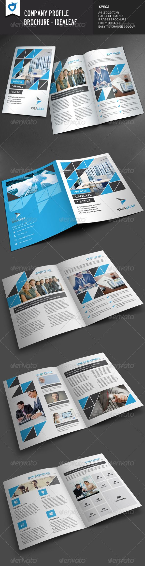 company profile brochure idealeaf brochures print templates