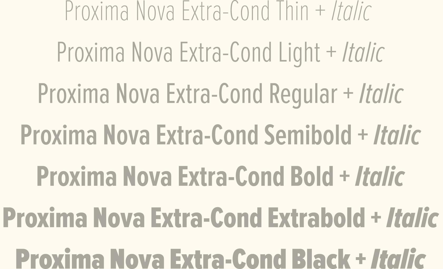 Proxima Nova Extra Condensed  | type + lettering | Nova