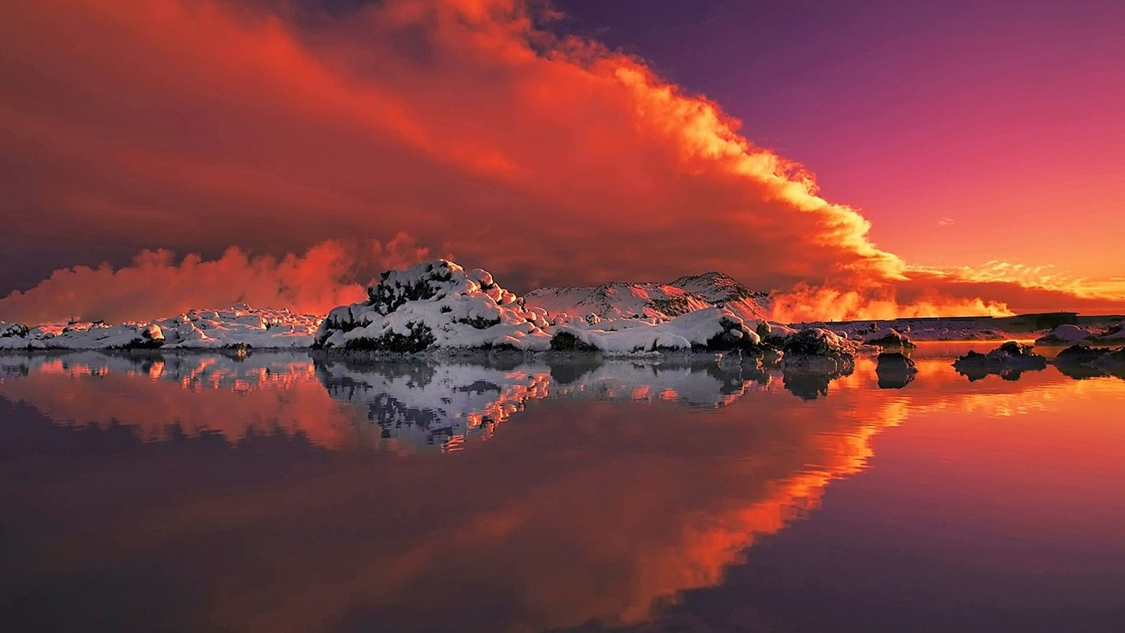 Natbg Com Ice Sunset Water Mountains Beautiful Reflection Snow Winter Clouds Red Sky Full Hd 1080p Background Nature Photos Nature Landscape Wallpaper sunset lake ice evening sky