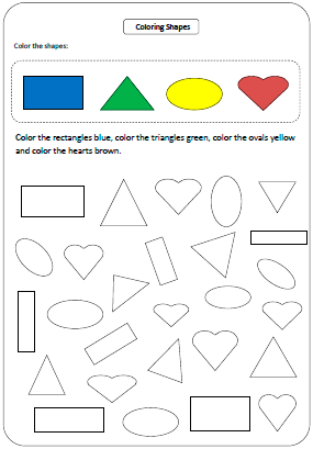 math worksheets for kids resource geometry (plane shapes