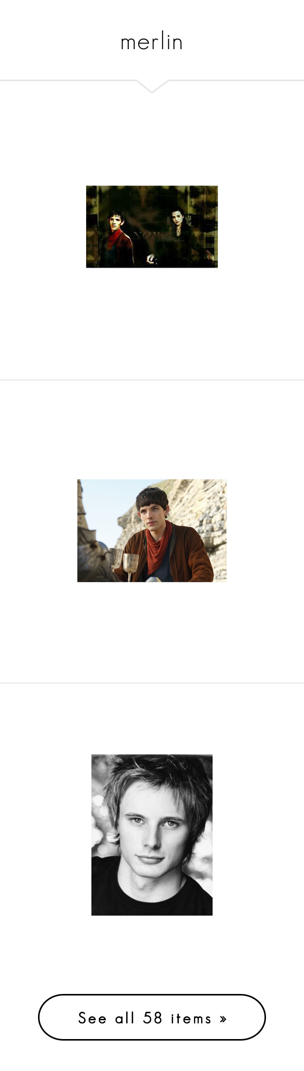 """merlin"" by alwaysdelena ❤ liked on Polyvore featuring merlin, bradley james, arthur pendragon, katie mcgrath, morgana and pictures"