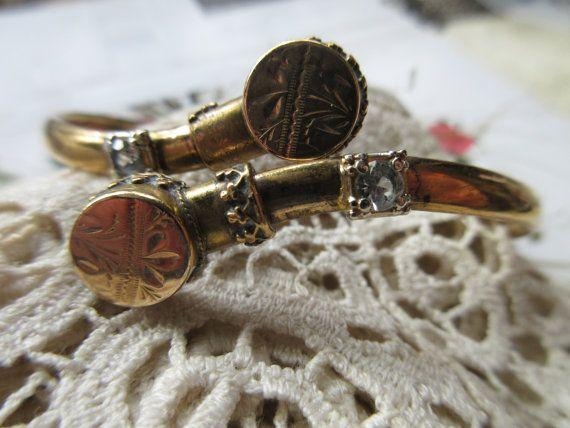 Victorian Bypass Bracelet Gold Fill Bracelet by AndOnToWillow