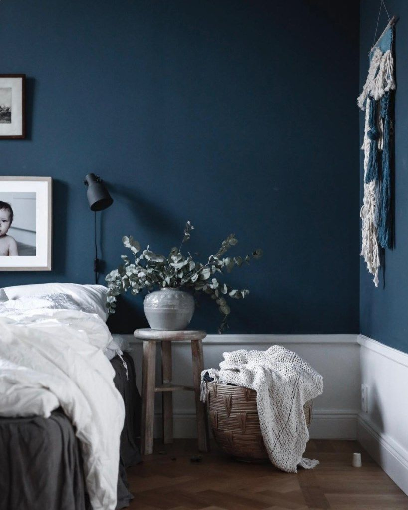 Best Moody Blue Bedroom Inspiration Jasmina Bylund Blue 400 x 300