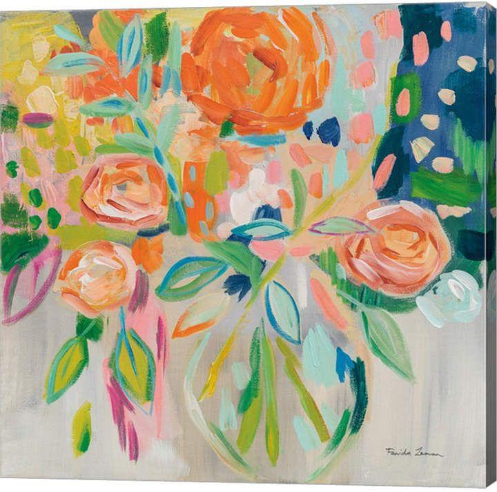 Summer Orange Floral By Farida Zaman Canvas Art Canvas Art Art