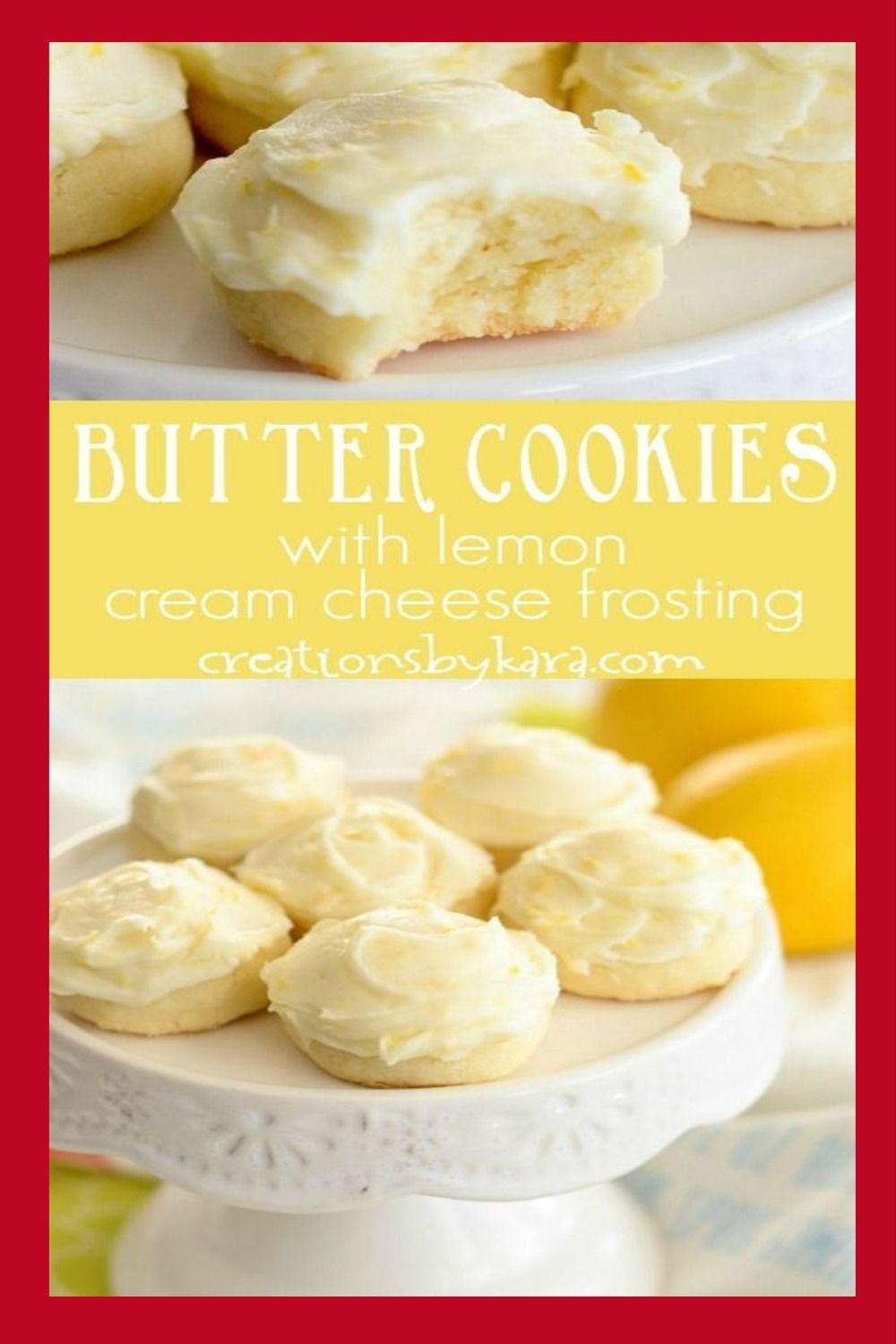 Recipe for Butter cookies with lemon cream cheese frosting ...
