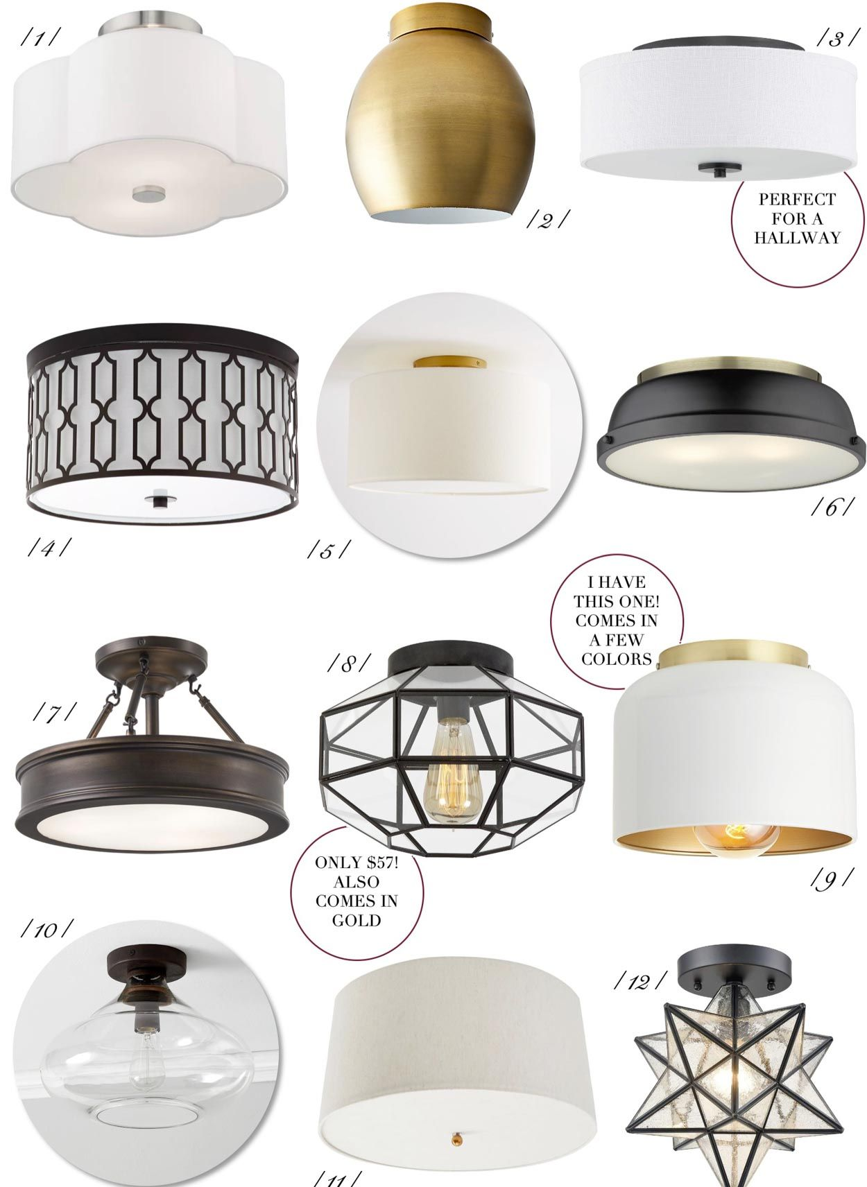The 20 Best Flush Mount Lights Under 100 Flush Mount Lights