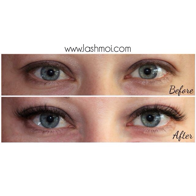 8d3cc955b30 LOVE this transformation BEFORE & AFTER XTreme Lashes by stylist, Emilie.  www.lashmoi.com