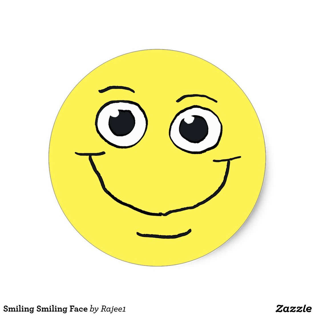 Smiling smiling face classic round sticker